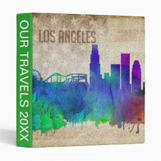 Los Angeles, CA | Watercolor City Skyline Binder
