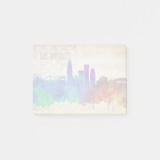 Los Angeles, CA | Watercolor City Skyline Post-it Notes
