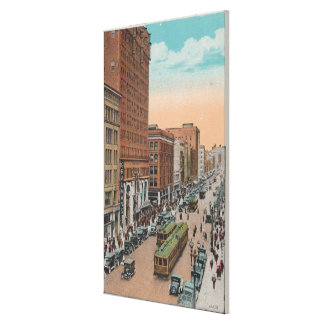Los Angeles, CABroadway from 4th Street View Canvas Print