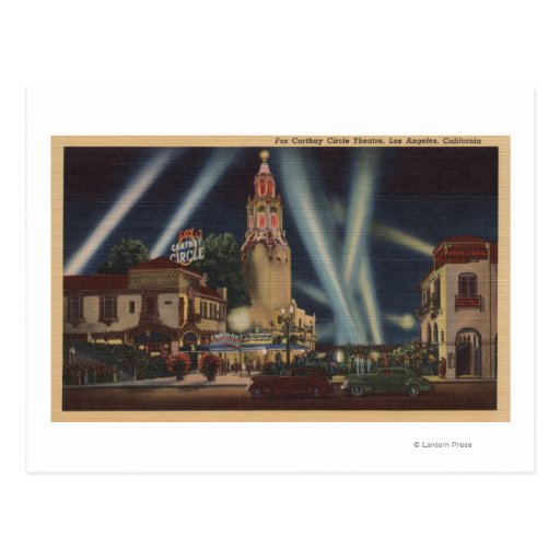Los Angeles, CAFox Carthay Circle Theatre View Post Card