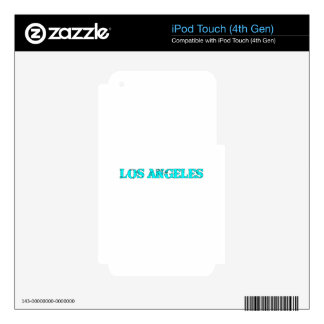 Los Ángeles Calcomanías Para iPod Touch 4G