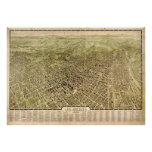 Los Angeles California 1909 Antique Panoramic Map Posters