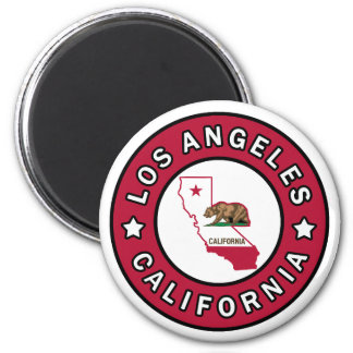 Los Angeles California 2 Inch Round Magnet