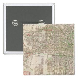 Los Ángeles, California 2 Pin Cuadrada 5 Cm