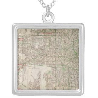 Los Angeles, California 2 Square Pendant Necklace