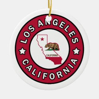 Los Ángeles California Adorno Navideño Redondo De Cerámica