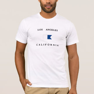Los Angeles California Alpha Dive Flag T-Shirt