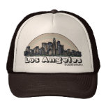 Los Angeles California artistic skyline hat
