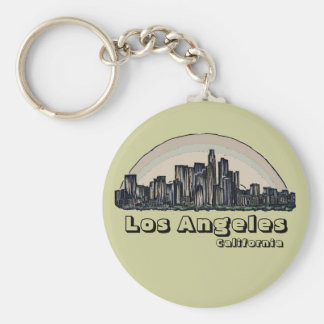 Los Angeles California artistic skyline keychain