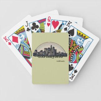 Los Angeles California artsy skyline playing cards