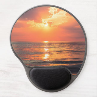 Los Angeles California beach at sunset Gel Mouse Pad