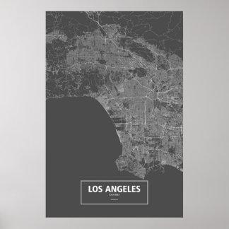 Los Ángeles, California (blanca en negro) Póster