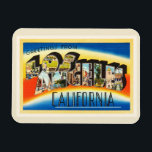 """Los Angeles California CA Vintage Travel Souvenir Magnet<br><div class=""""desc"""">Los Angeles,  California CA  A nostalgic,  vintage travel souvenir postcard image,  an authentic retro design. Greetings from the American Travelogue Virtual Touring Company!.</div>"""
