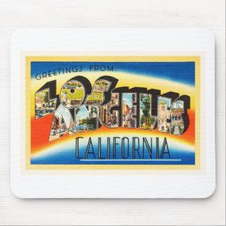 Los Angeles California CA Vintage Travel Souvenir Mouse Pad