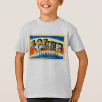 Los Angeles California CA Vintage Travel Souvenir T-Shirt