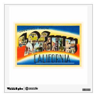 Los Angeles California CA Vintage Travel Souvenir Wall Sticker