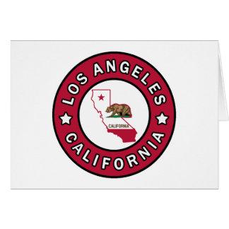 Los Angeles California Card