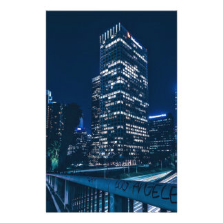 Los Angeles California City Urban Buildings Stationery