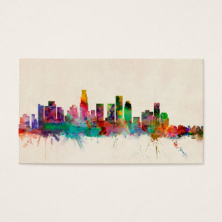 Los Angeles California Cityscape Skyline Business Card