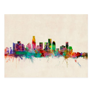 Los Angeles California Cityscape Skyline Postcard