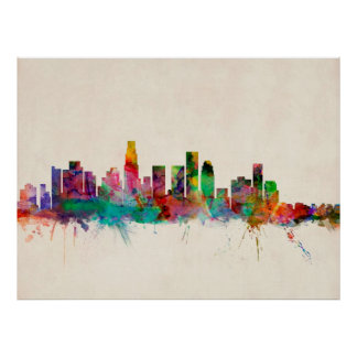 Los Angeles California Cityscape Skyline Posters
