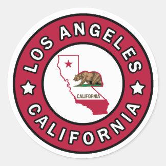 Los Angeles California Classic Round Sticker
