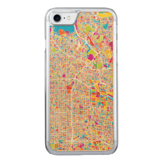 Los Angeles, California   Colorful Map Carved iPhone 7 Case