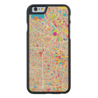 Los Angeles, California   Colorful Map Carved Maple iPhone 6 Slim Case