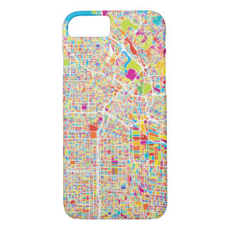 Los Angeles, California   Colorful Map iPhone 7 Case