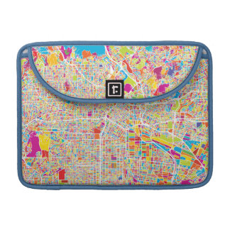 Los Angeles, California   Colorful Map Sleeve For MacBooks