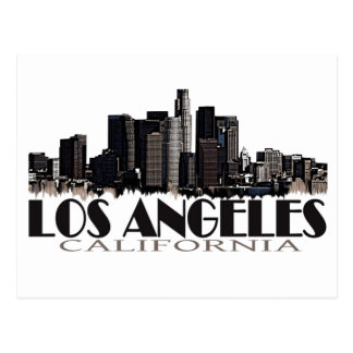Los Angeles California dark skyline Postcard