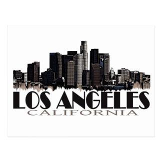 Los Angeles California dark skyline Postcard