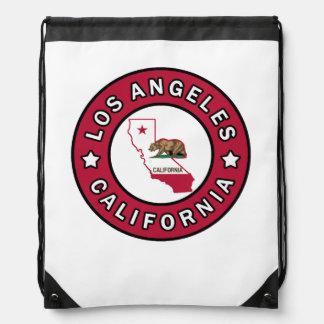 Los Angeles California Drawstring Bag