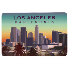 Los Angeles, California - Editable Illustration Floor Mat