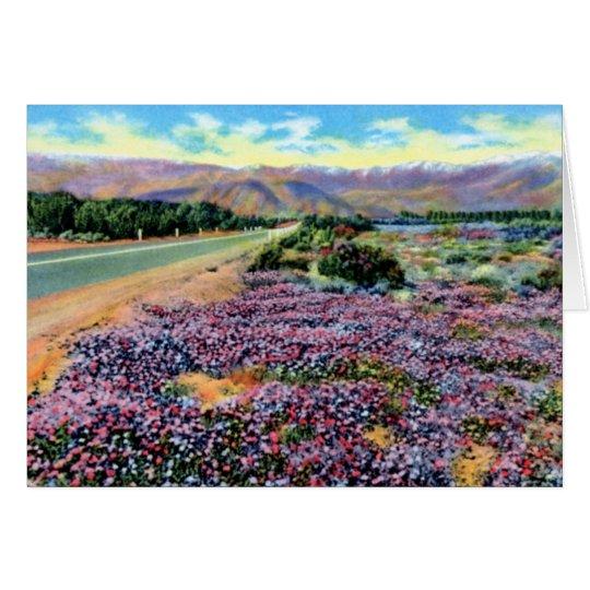 Los Angeles California Flowers Blooming in Desert Card