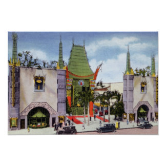 Los Angeles California Graumans Chinese Theater Poster