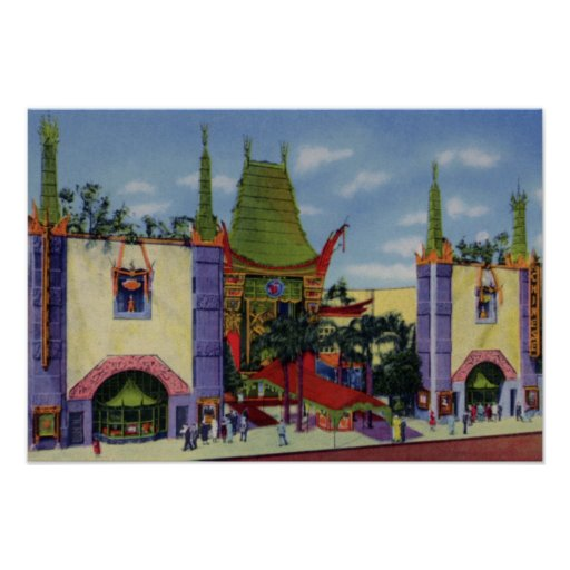 Los Angeles California Graumans Chinese Theater Posters