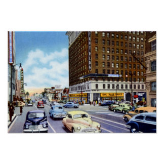 Los Angeles California Hollywood and Vine Poster
