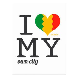Los Angeles California I love my own city! Postcard