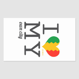 Los Angeles California I love my own city! Rectangular Sticker