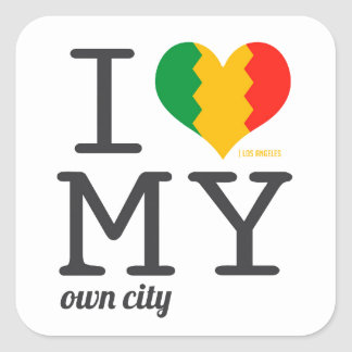 Los Angeles California I love my own city! Square Sticker