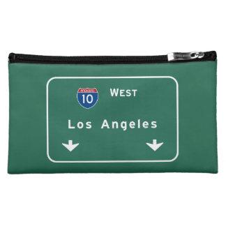 Los Angeles California Interstate Highway Freeway Cosmetic Bags