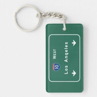 Los Angeles California Interstate Highway Freeway Keychain