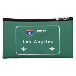Los Angeles California Interstate Highway Freeway Makeup Bag