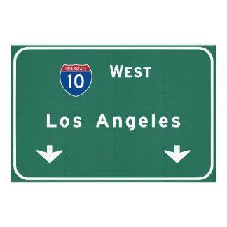 Los Angeles California Interstate Highway Freeway Photo Print