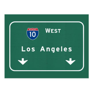 Los Angeles California Interstate Highway Freeway Postcard