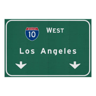 Los Angeles California Interstate Highway Freeway Poster