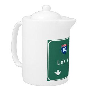 Los Angeles California Interstate Highway Freeway Teapot
