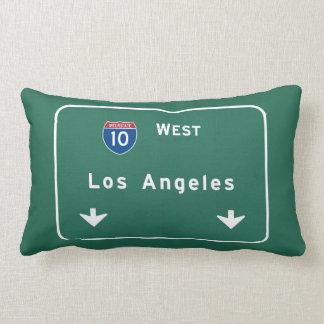 Los Angeles California Interstate Highway Freeway Throw Pillow