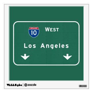 Los Angeles California Interstate Highway Freeway Wall Sticker